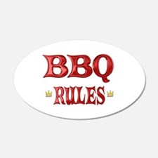 BBQ Rules 22x14 Oval Wall Peel