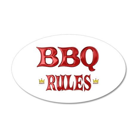 BBQ Rules 38.5 x 24.5 Oval Wall Peel