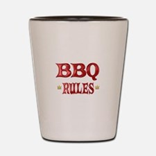 BBQ Rules Shot Glass