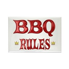 BBQ Rules Rectangle Magnet