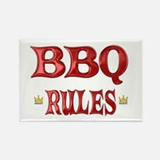 BBQ Rules Rectangle Magnet (100 pack)