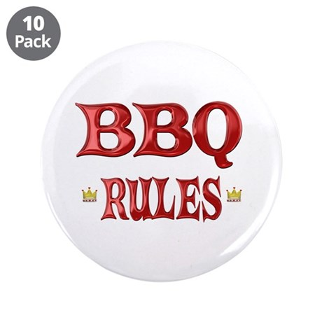 "BBQ Rules 3.5"" Button (10 pack)"