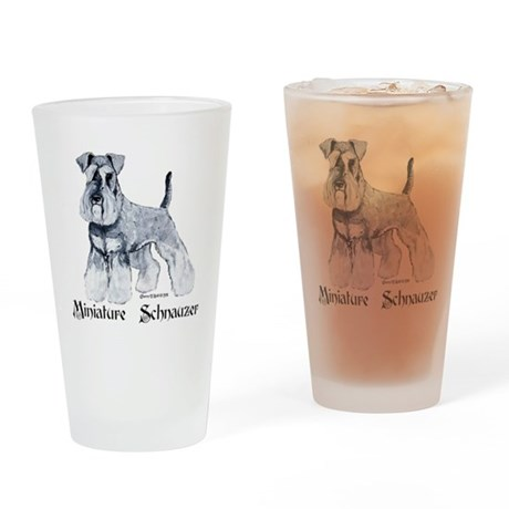 Proud Schnauzer Drinking Glass