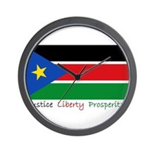 Unique South sudan Wall Clock