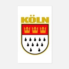 Koln/Cologne Sticker (Rectangle)