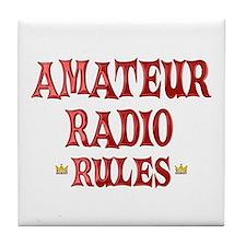 Amateur Radio Rules Tile Coaster