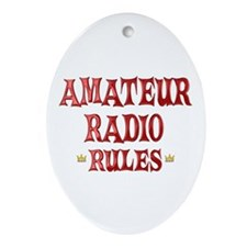 Amateur Radio Rules Ornament (Oval)