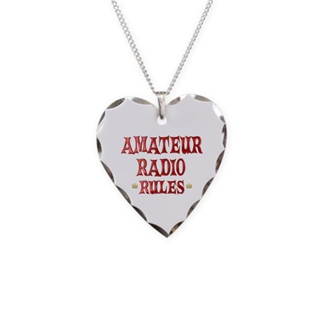 Amateur Radio Rules Necklace Heart Charm