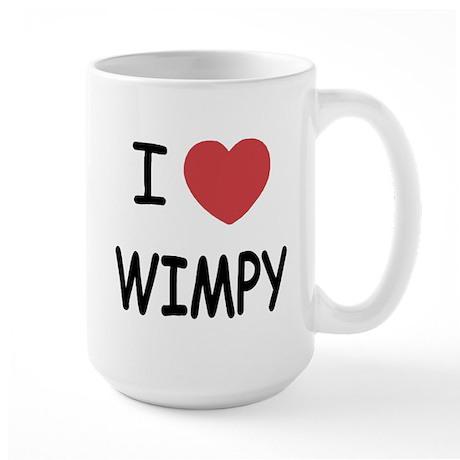 I heart wimpy Large Mug