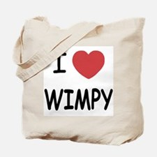 I heart wimpy Tote Bag