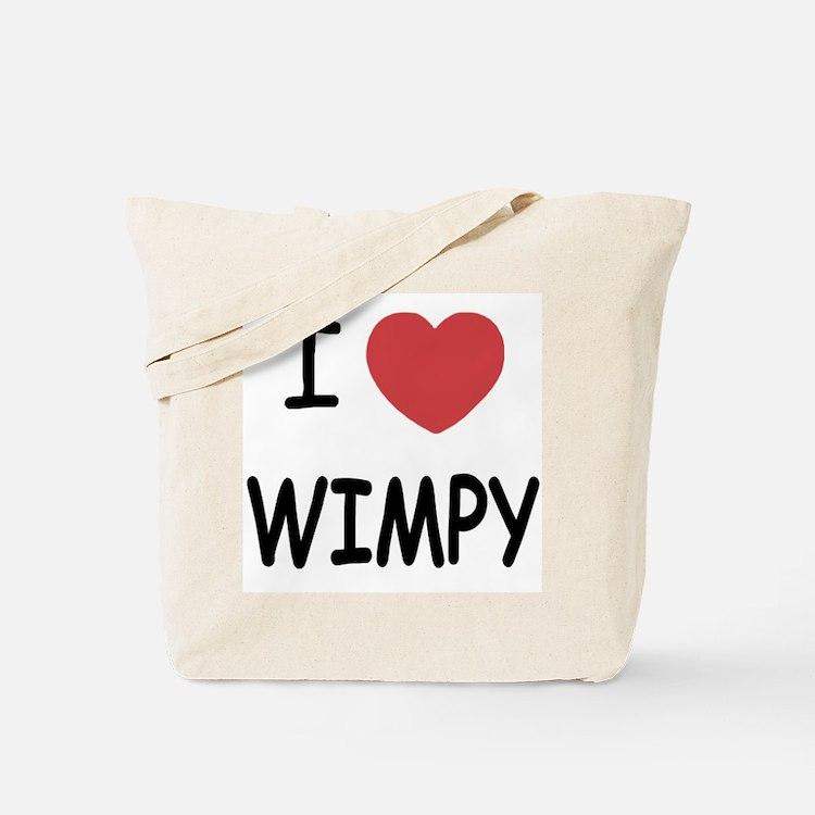 I heart wimpy Tote Bag