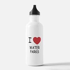 I heart water parks Water Bottle