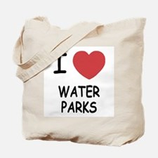 I heart water parks Tote Bag