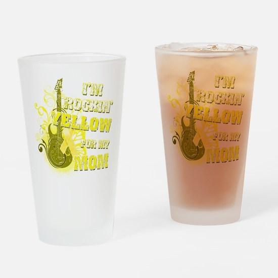 I'm Rockin' Yellow for my Mom Drinking Glass