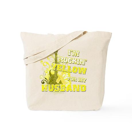 I'm Rockin' Yellow for my Hus Tote Bag
