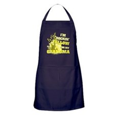 I'm Rockin' Yellow for my Gra Apron (dark)