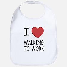 I heart walking to work Bib
