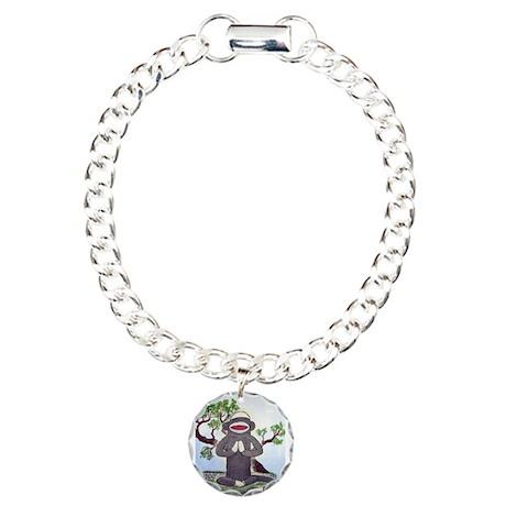 Sock Monkey Nirvana Charm Bracelet, One Charm
