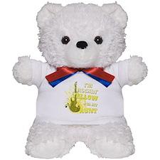 I'm Rockin' Yellow for my Aun Teddy Bear