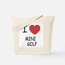 I heart mini golf Tote Bag