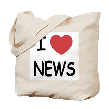 I heart news Tote Bag