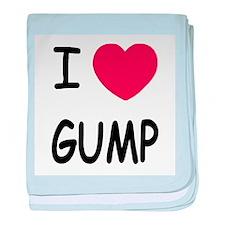 I heart gump baby blanket