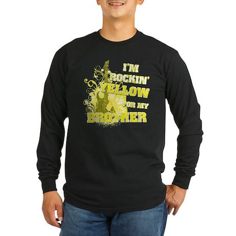 I'm Rockin' Yellow for my Bro Long Sleeve Dark T-S