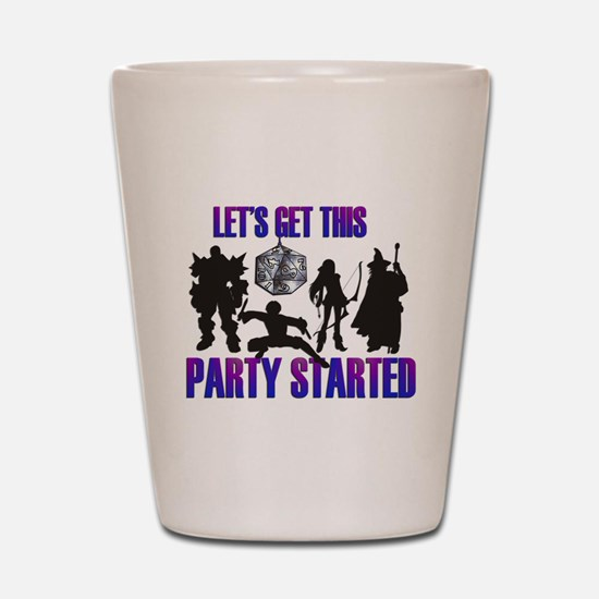 Party Started Shot Glass