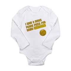 Obama Nobel Prize Long Sleeve Infant Bodysuit