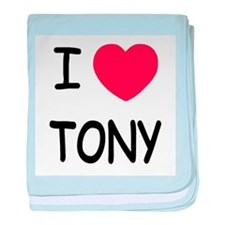 I heart tony baby blanket