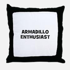 Armadillo Enthusiast Throw Pillow