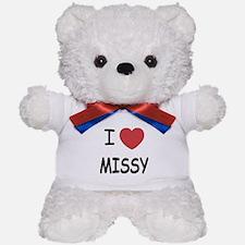 I heart missy Teddy Bear