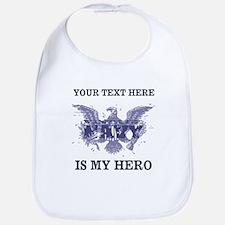Personalizeable Navy Hero Bib
