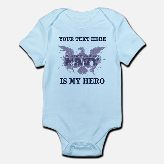 Personalizeable Navy Hero Infant Bodysuit