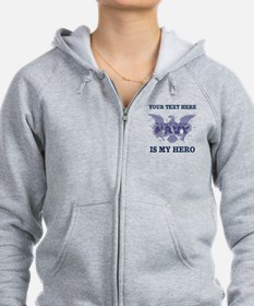 Personalizeable Navy Hero Zip Hoodie