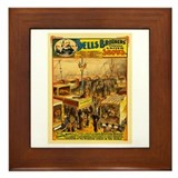 Sells brothers circus Framed Tiles