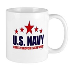 U.S. Navy Brave Through Every Wave Mug