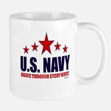 U.S. Navy Brave Through Every Wave Mug