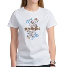 Genealogist Flowered Tee