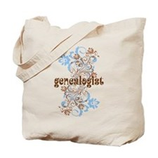 Genealogist Flowered Tote Bag
