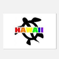 Rainbow Hawaii Turtle Postcards (Package of 8)