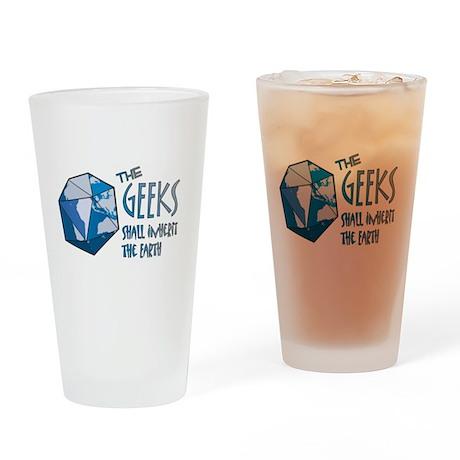 Geeks Inherit Drinking Glass