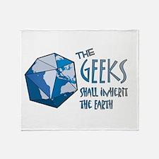 Geeks Inherit Throw Blanket