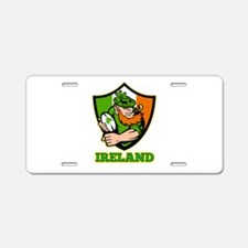 Ireland Leprechaun Rugby Aluminum License Plate