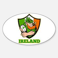 Ireland Leprechaun Rugby Decal