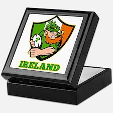 Ireland Leprechaun Rugby Keepsake Box