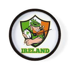 Ireland Leprechaun Rugby Wall Clock