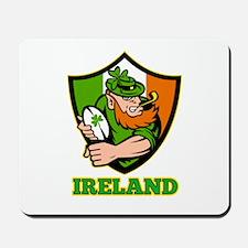 Ireland Leprechaun Rugby Mousepad