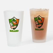 Ireland Leprechaun Rugby Drinking Glass