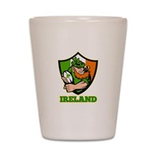 Ireland Leprechaun Rugby Shot Glass